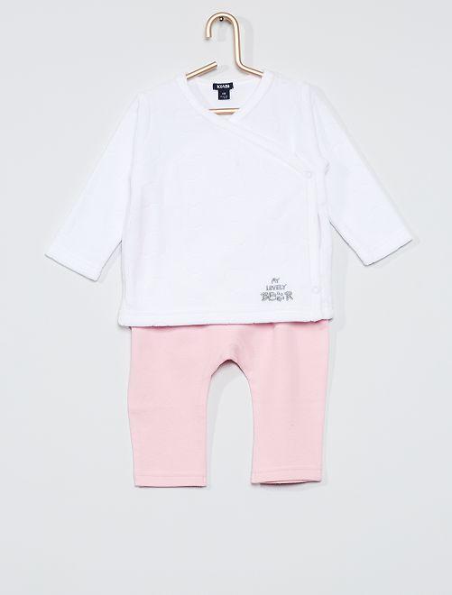 Ensemble t-shirt + pantalon 'ours'                                                     rose
