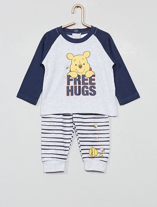 Ensemble t-shirt + pantalon 'Winnie l'ourson'                                         gris