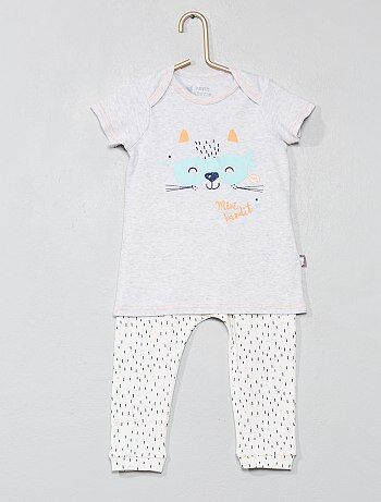 Ensemble T shirt sarouel `Petit Beguin`