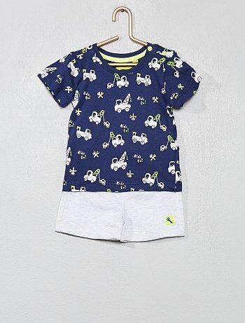 c1e73c30a3d Garçon 0-36 mois - Ensemble T-shirt + short imprimé  Camions
