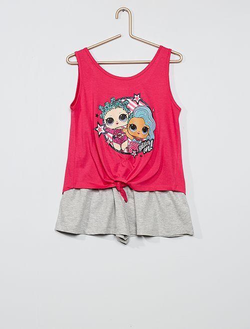Ensemble t-shirt + short 'L.O.L. Surprise!'                                         rose