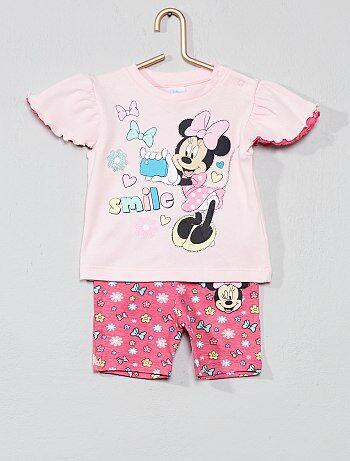 4e33573a6bf8e Fille 0-36 mois - Ensemble t-shirt + short  Minnie  -