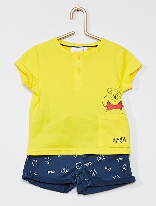 Ensemble t-shirt + short 'Winnie l'ourson' Disney                     jaune