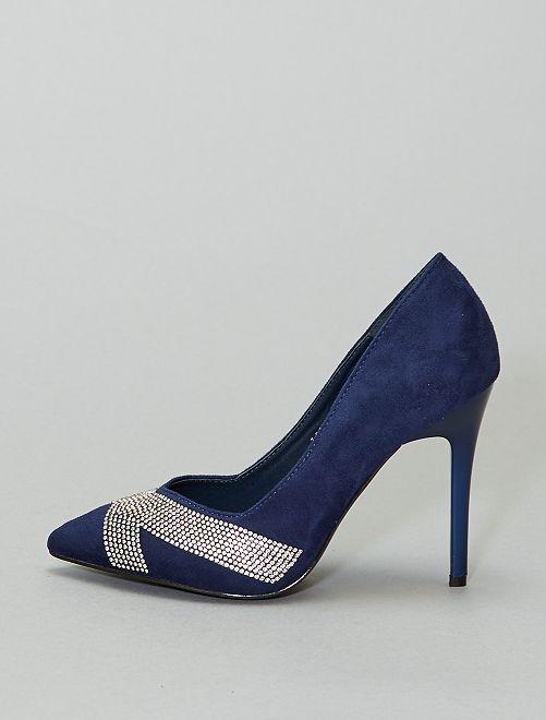 Escarpins en suédine                                         bleu