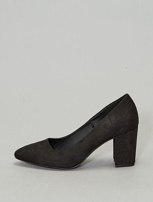 Escarpins en suédine                             noir