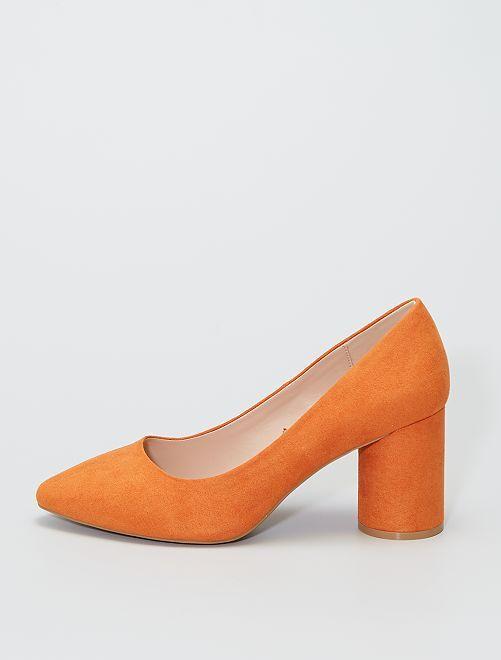 Escarpins en suédine                                         orange