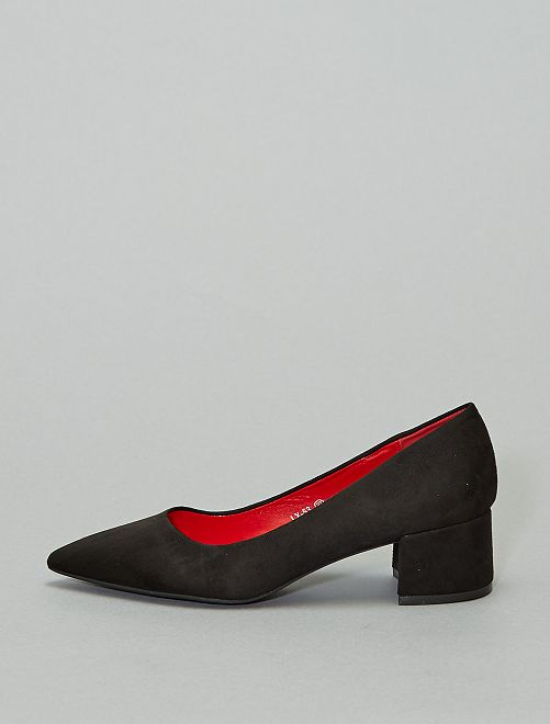 Escarpins talon carré                                                     noir