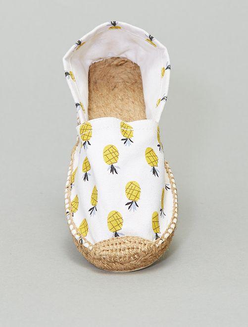 Espadrilles 'Ananas'                             blanc jaune