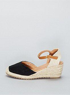 Chaussures - Espadrilles compensées en suédine - Kiabi
