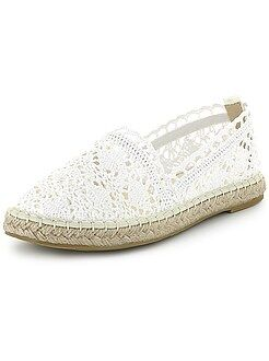 Chaussures - Espadrilles en dentelle - Kiabi