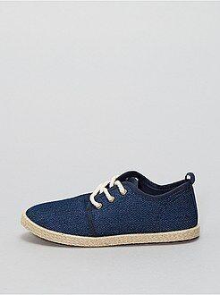 Chaussures garçon - Espadrilles en textiles style baskets - Kiabi