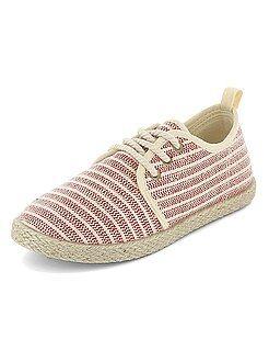 Garçon 3-12 ans - Espadrilles en textiles style baskets - Kiabi