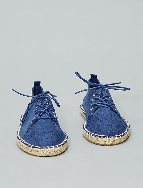 Espadrilles fantaisies à lacets                                         bleu navy Femme
