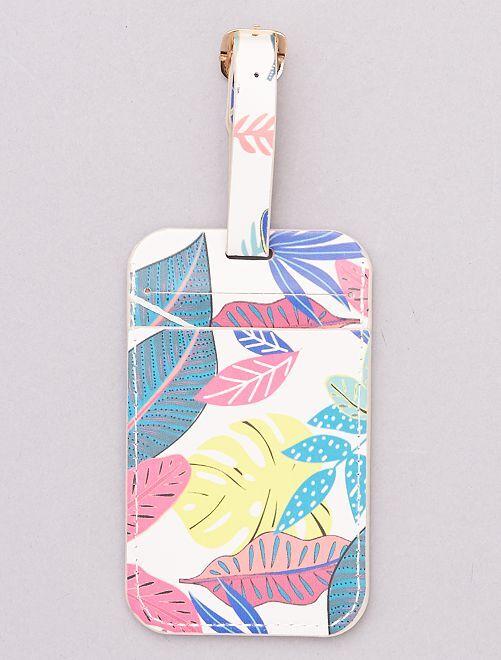 Étiquette sac de voyage                                                     multicolore