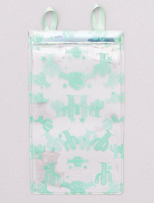 Etui à lunettes transparent                                         vert/cactus