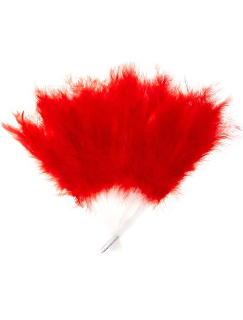 Eventail plume                                                                 rouge