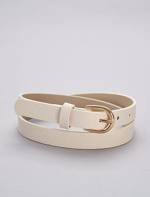 Fine ceinture                                                                                         écru Femme
