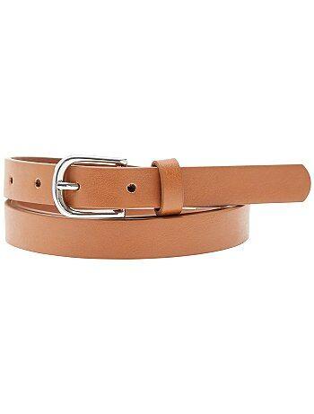 L'accessoire indispensable : la fine ceinture qui se coordonne avec toutes vos tenues ! - Largeur : 1,5 cm environ - Longueur : 104 cm environ (pour la taille M)