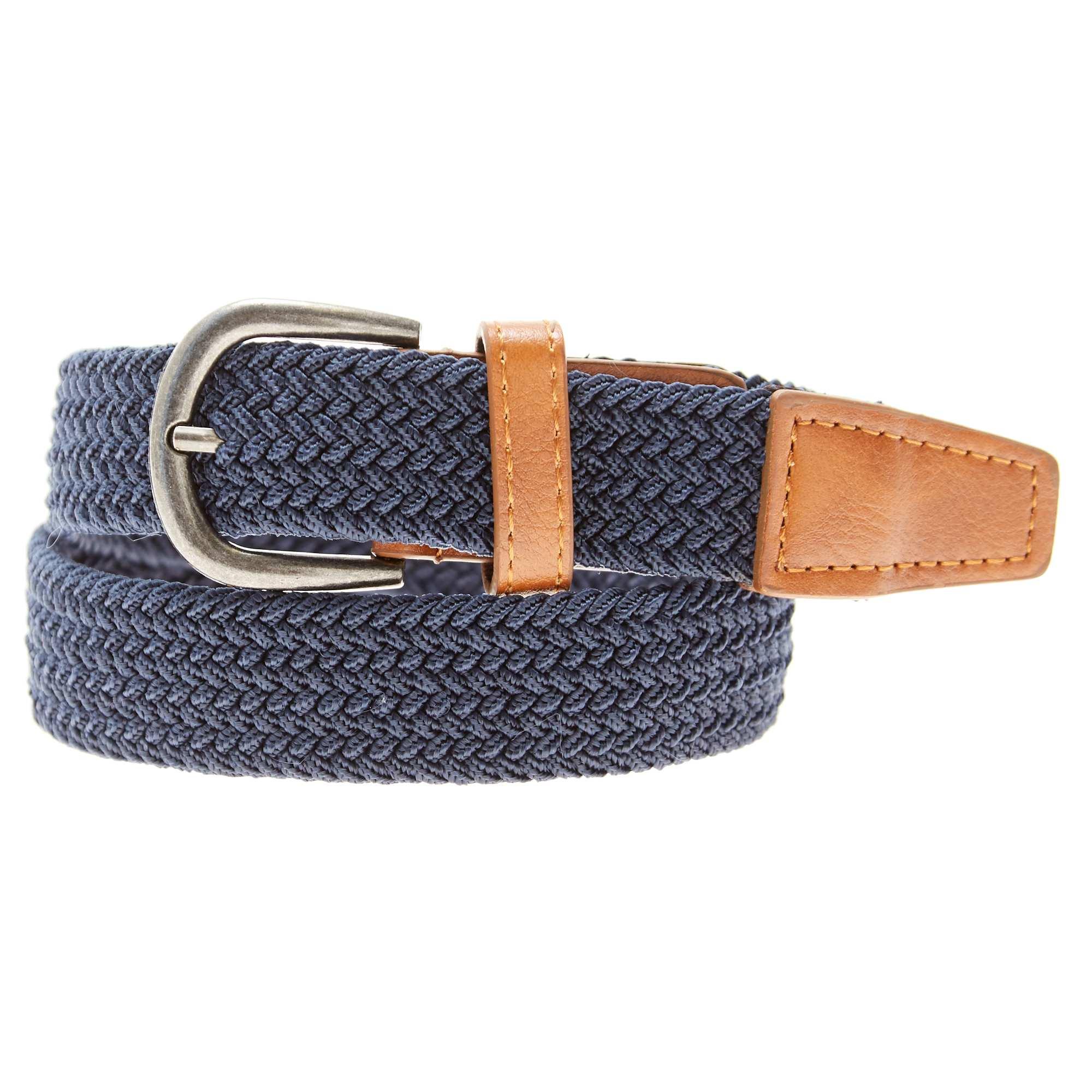 d6f33cbabfe9e Fine ceinture tressée Garçon - bleu marine - Kiabi - 5,00€