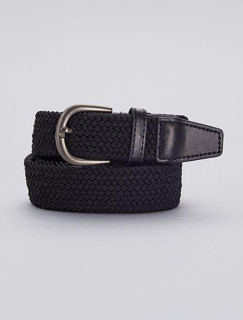 Fine ceinture tressée                                                                             noir
