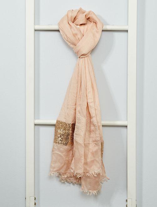 Foulard avec sequins                             rose