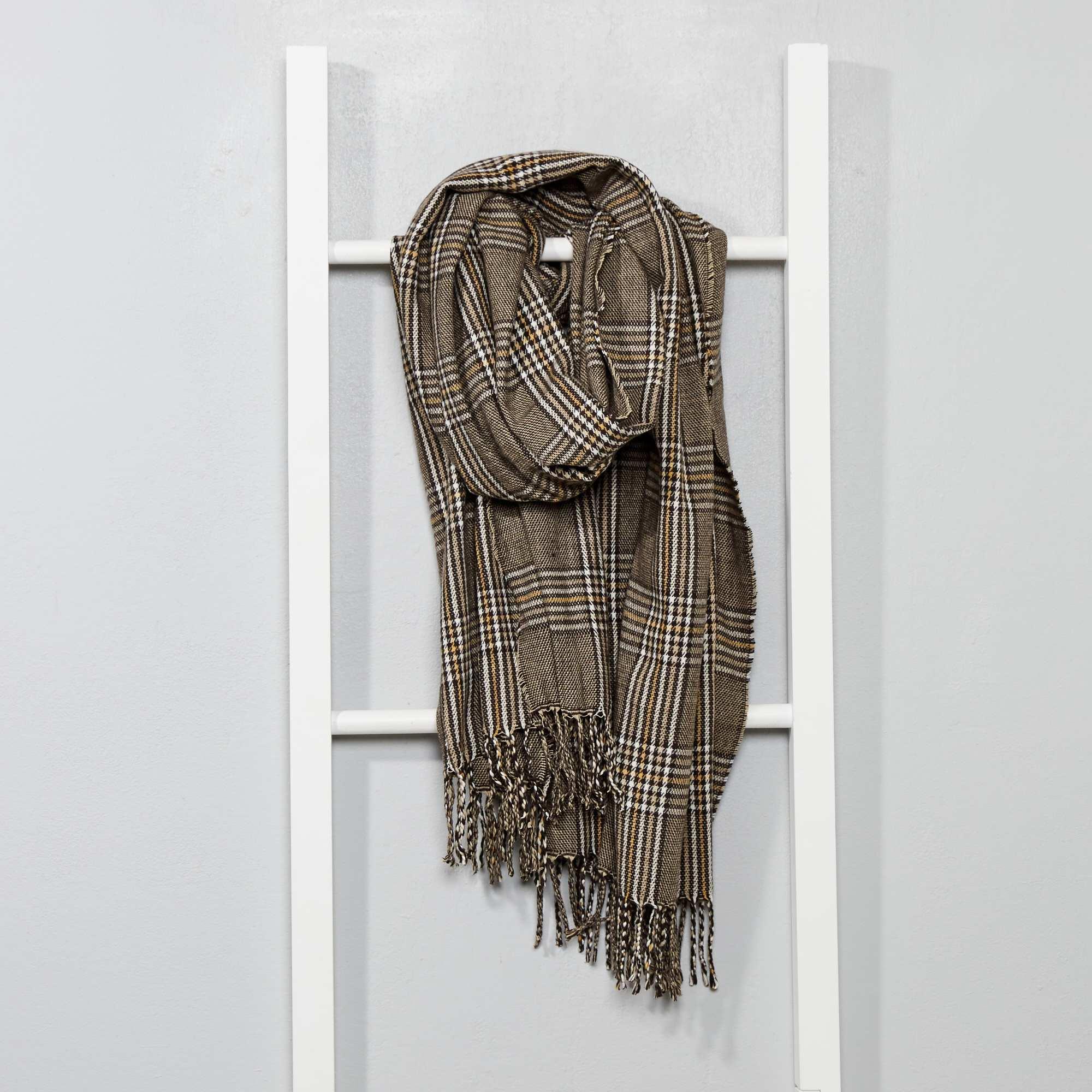 Foulard chaud imprimé  Prince de Galles  Homme - marron - Kiabi - 12,00€ 96b3272d553