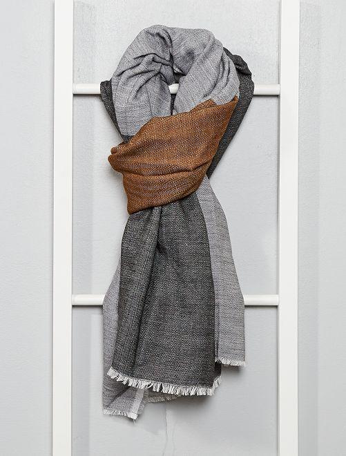 Foulard color block                             gris