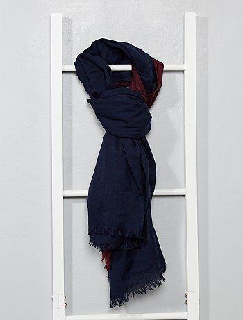 Foulard en coton bi-color