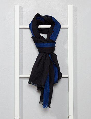 Foulard en coton bi color
