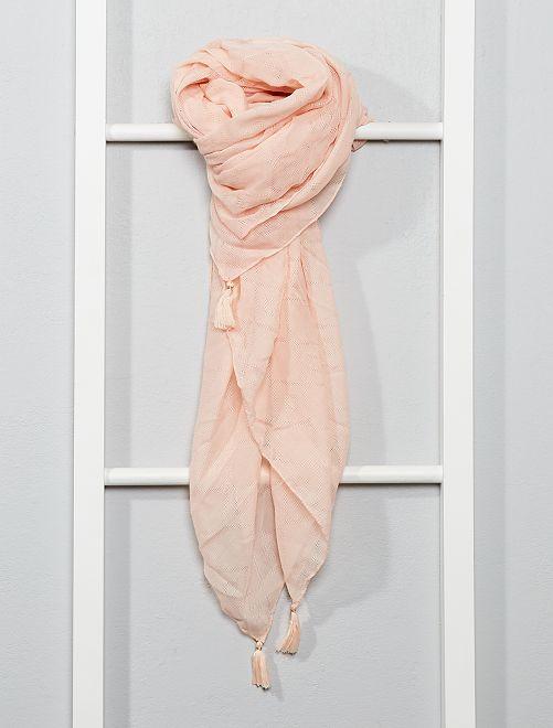 Foulard en tissu imprimé                                         rose clair Femme