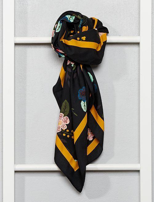 Foulard fleuri                                         noir/fleurs