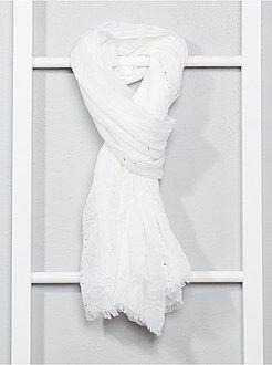 Echarpe, gants, bonnet - Foulard fluide à sequins - Kiabi