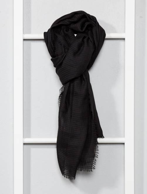 Foulard fluide                                                                             noir Femme