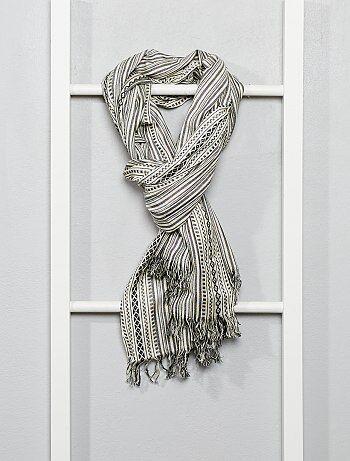Foulard 'Ikat' en coton tissé