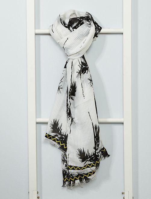 Foulard imprimé                             blanc/noir
