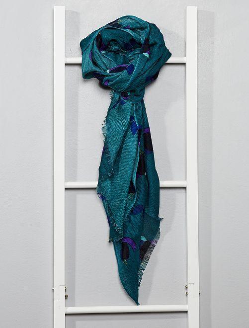 Foulard léger imprimé Femme - vert rouge jaune bleu - Kiabi - 8,00€ 25a6473c748