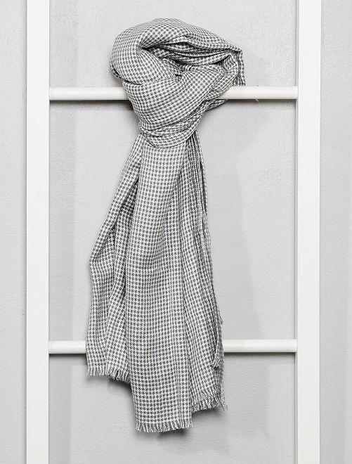 Foulard pied-de-poule                             gris/écru