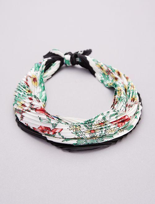 Foulard plissé fleuri                             multicolore