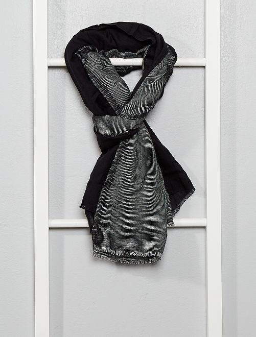 Foulard rayé                             noir