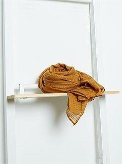 Foulard rectangulaire en voile doux irisé