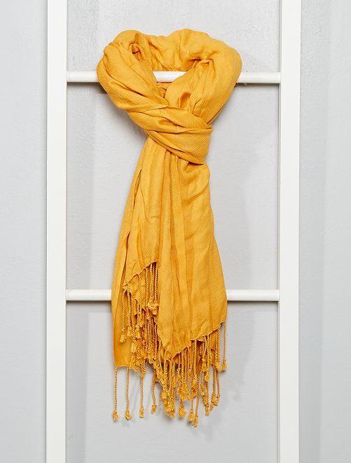 Foulard type pashmina                                                     jaune