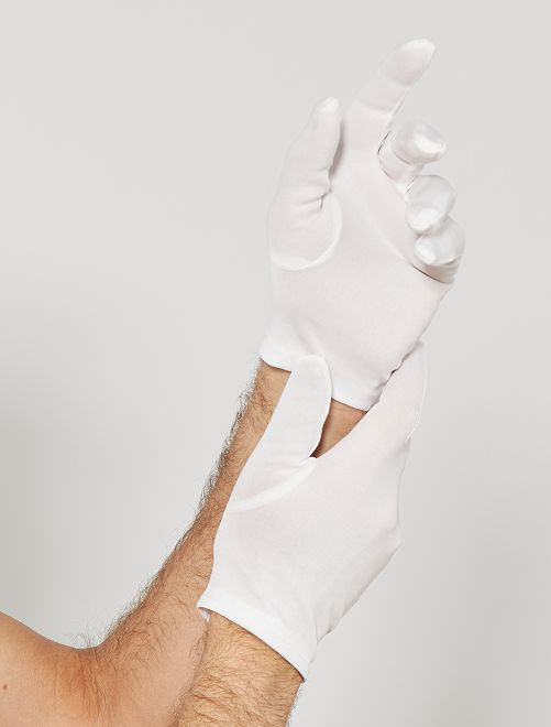 Gants blancs courts                             blanc