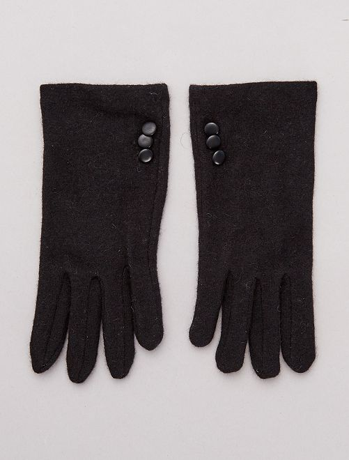 Gants en laine                                         noir