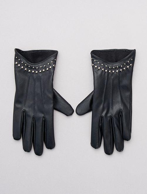 Gants en simili                             noir
