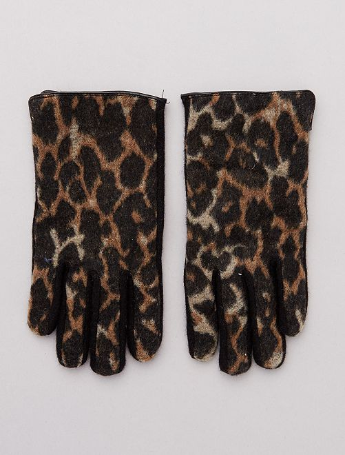 Gants imprimé léopard                             léopard