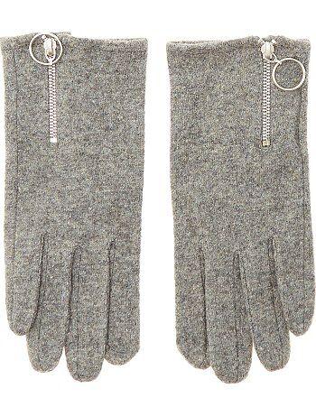 Gants zippés