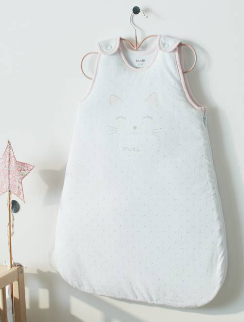 Gigoteuse chaude 'chat'                             blanc Bébé fille