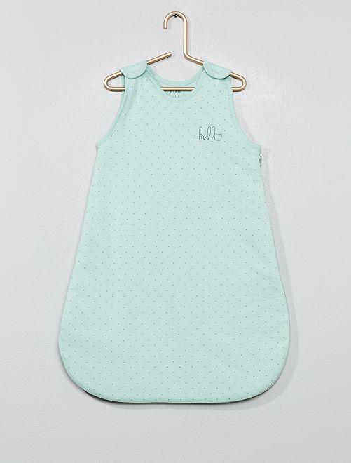 Gigoteuse chaude en coton biologique                                                                                         vert Bébé fille