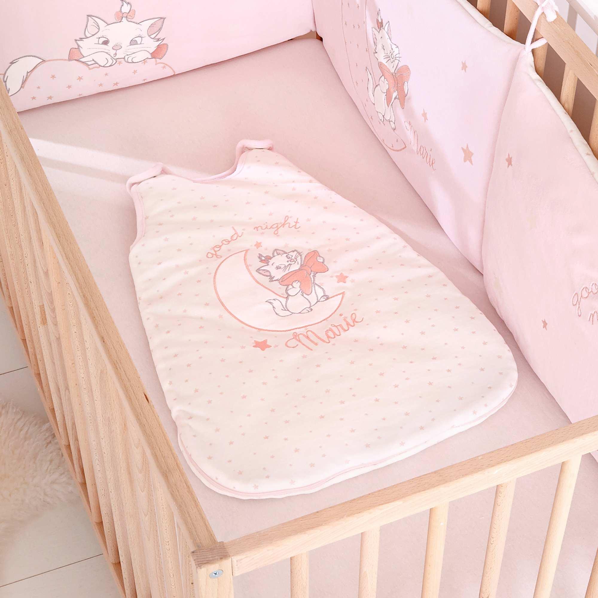 Couleur : rose pâle, blanc, ,, - Taille : 0/6M, 6/24M, ,,Moelleux et tout doux, 'marie' des 'Aristochats' gardera votre petit ange bien au chaud