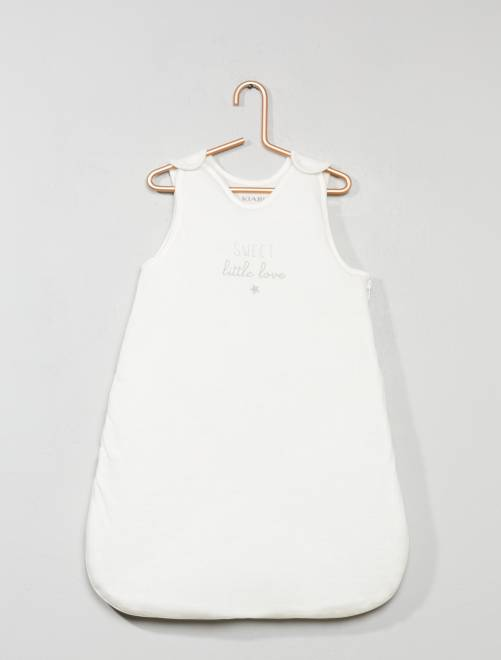 Gigoteuse chaude imprimée                             blanc Bébé fille